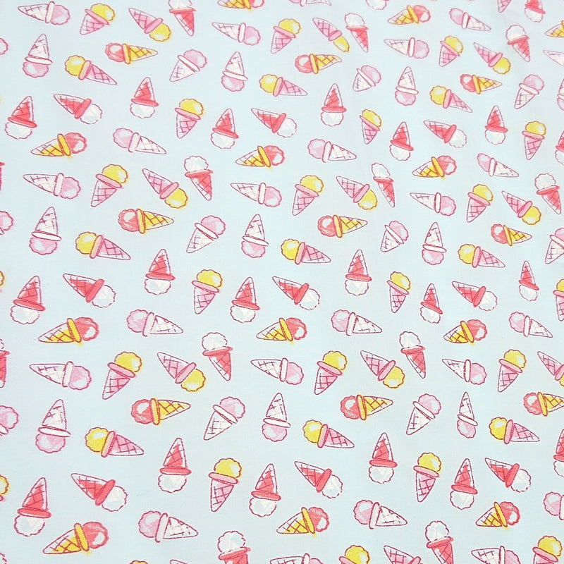 Ice-Cream Polycotton - The Fabric Counter