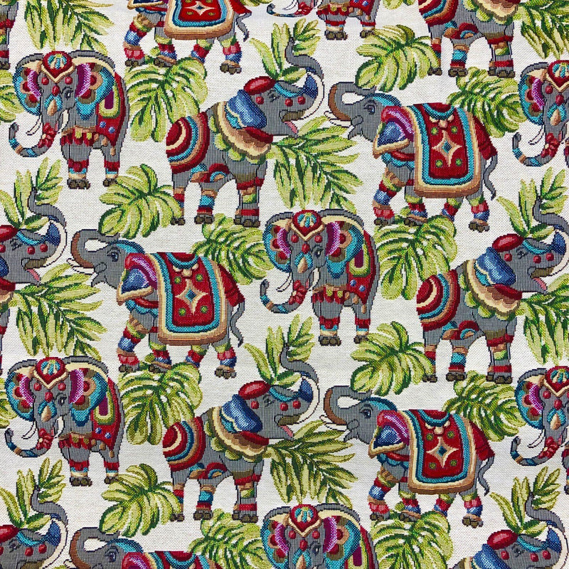 Indian Elephant Tapestry - The Fabric Counter