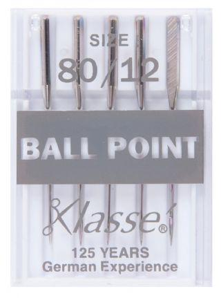 Klasse Machine Needles Ballpoint 80/12 - The Fabric Counter