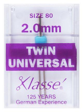 Klasse Machine Needles: Twin 2mm 80/12 - The Fabric Counter