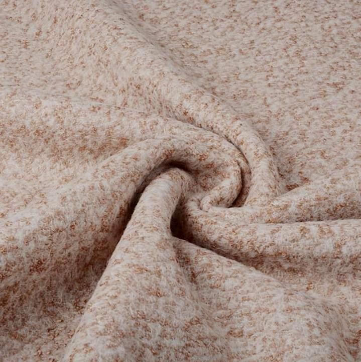Lanzo Wool Mix - Beige - The Fabric Counter