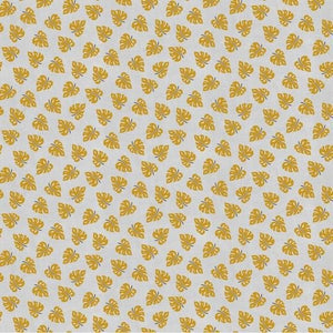 Leaf Print - Linen Viscose Mix - The Fabric Counter