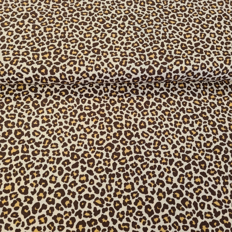 Leopard Print Cotton - Brown - The Fabric Counter
