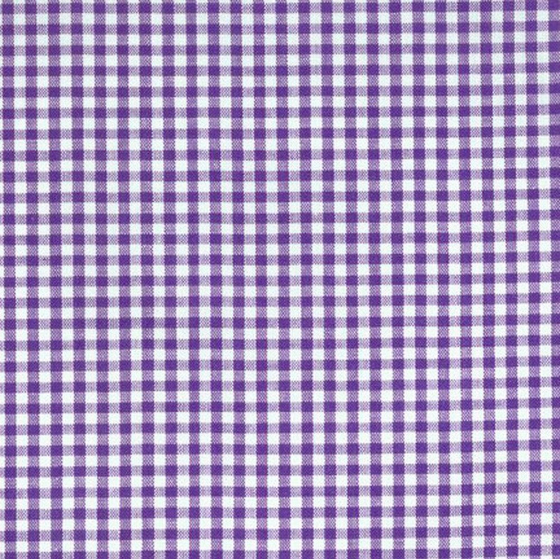 "Lilac 1/8"" Gingham - The Fabric Counter"