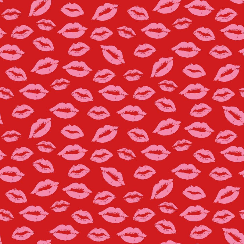 Lips - Cotton Print - The Fabric Counter