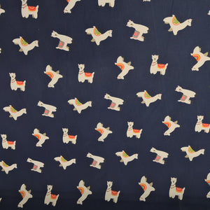 Llama Polycotton - The Fabric Counter