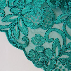 Lorna Guipure Lace - Green - The Fabric Counter