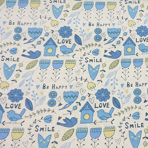 Love Bird Cotton Print - The Fabric Counter