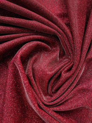 Lurex Glitter Jersey - Red - The Fabric Counter