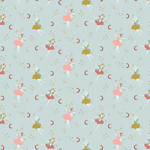 Magical Fairy - GOTS Organic Cotton Print - The Fabric Counter