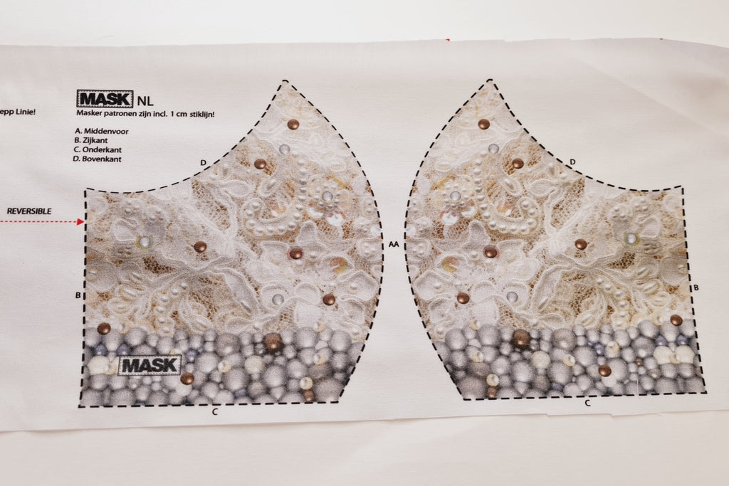 Mask Panel - 3D Lace Print - The Fabric Counter