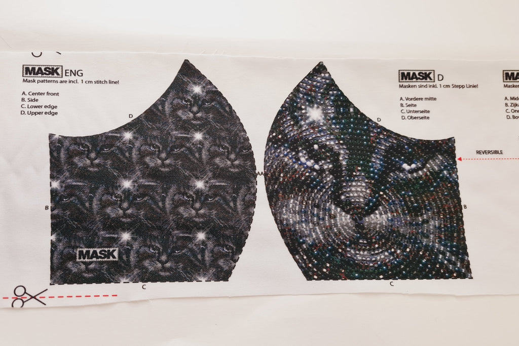 Mask Panel - Cat Sequin - The Fabric Counter