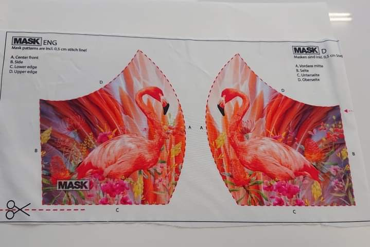 Mask Panel - Flamingo - The Fabric Counter