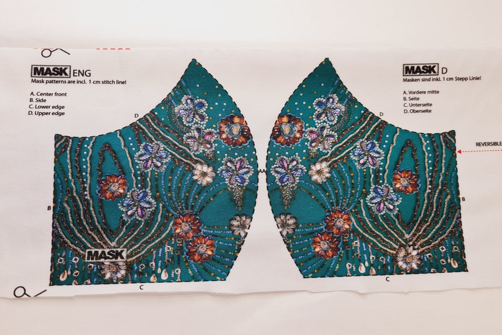 Mask Panel - Sequin Print - The Fabric Counter