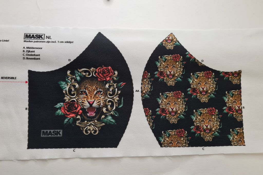 Mask Panel - Tiger - The Fabric Counter