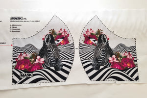 Mask Panel - Zebra - The Fabric Counter