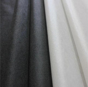 Medium Iron-On Interfacing 90cm (BLACK) - The Fabric Counter