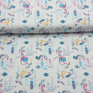 Mermaid Cotton Print - The Fabric Counter
