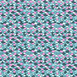 Mermaid Scale Cotton Print - The Fabric Counter