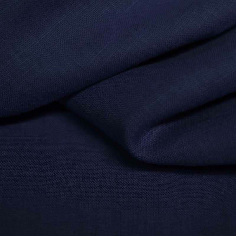 Navy 100% Linen - The Fabric Counter