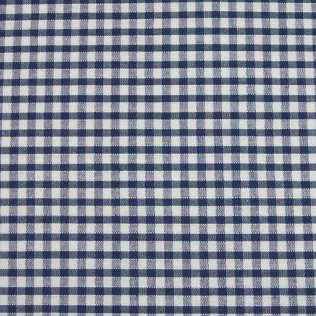 "Navy 1/8"" Gingham - The Fabric Counter"
