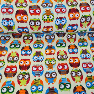 Owl Canvas - The Fabric Counter