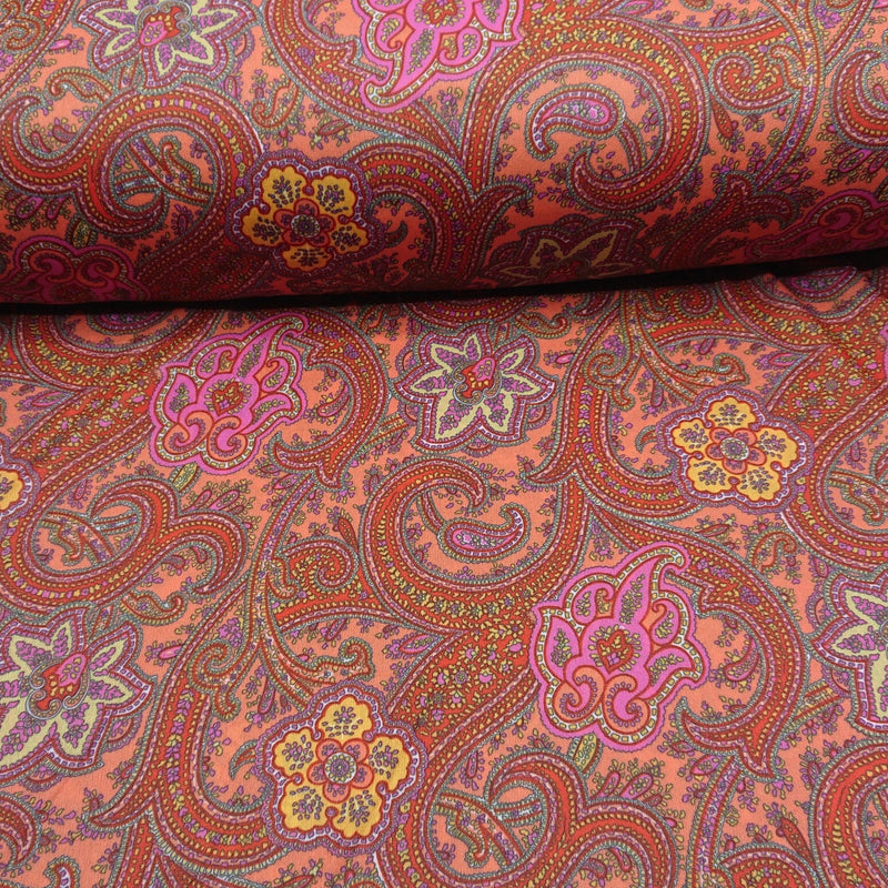 Paisley Print Tricot Jersey - The Fabric Counter