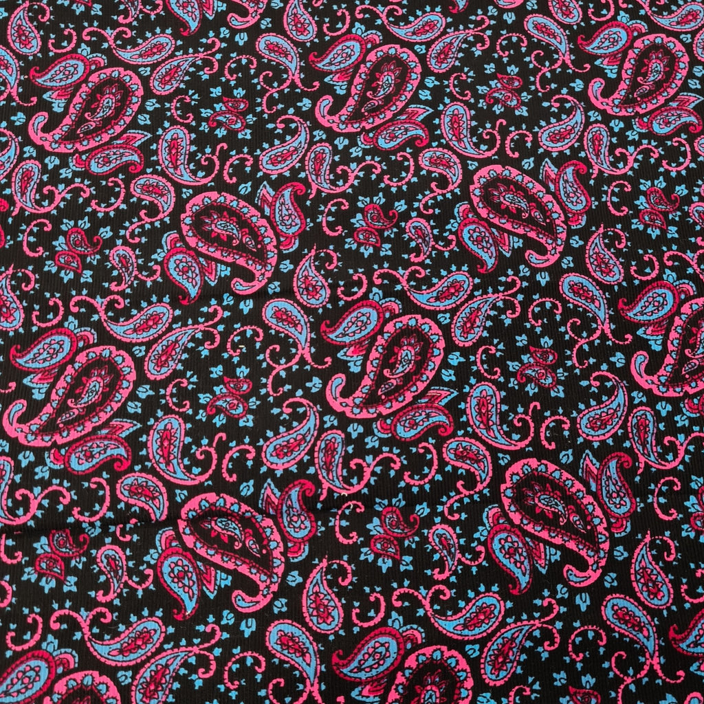 Paisley Printed Corduroy - The Fabric Counter