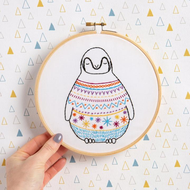 Penguin Embroidery Kit - The Fabric Counter