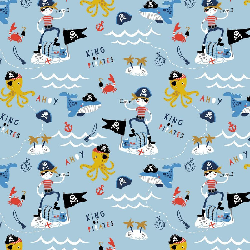 Pirate - GOTS Organic Cotton Jersey - The Fabric Counter