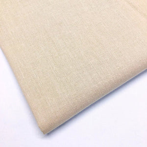 Plain 100% Cotton - Beige - The Fabric Counter