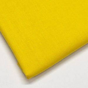 Plain 100% Cotton - Yellow - The Fabric Counter