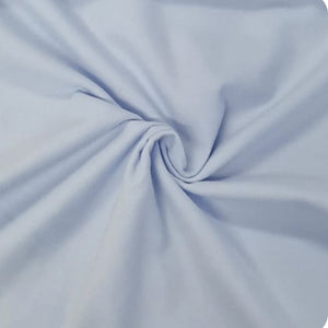 Plain Brushed Cotton - Baby Blue - The Fabric Counter