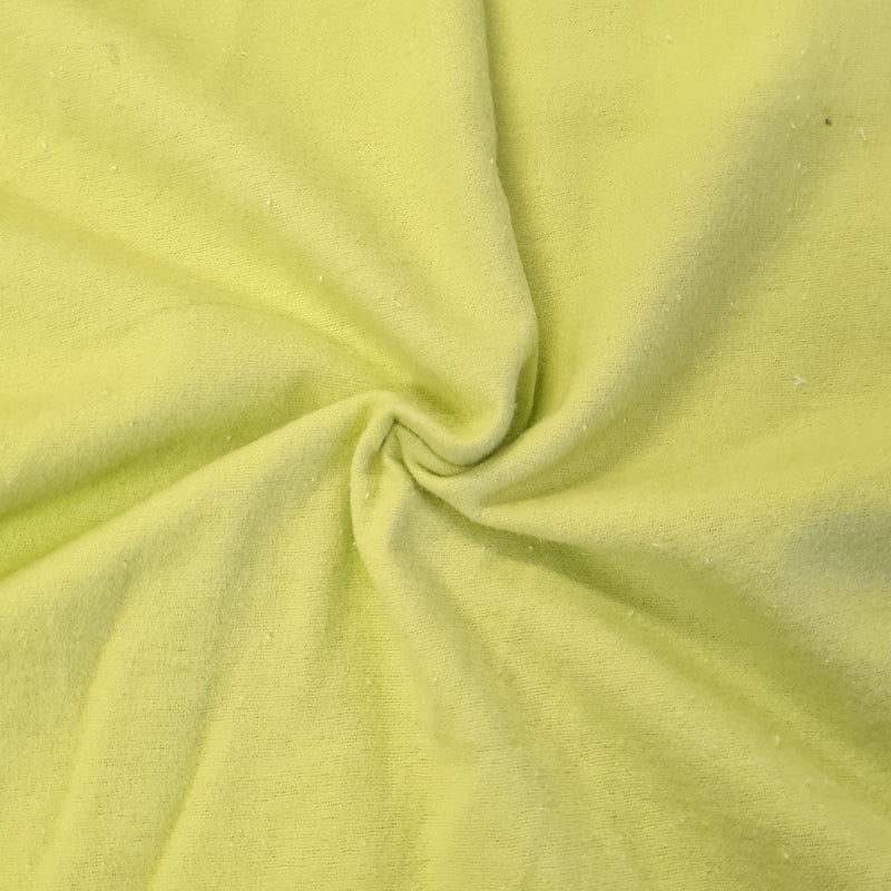 Plain Brushed Cotton - Lime - The Fabric Counter