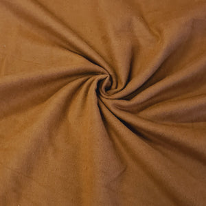 Plain Brushed Cotton - Mocca - The Fabric Counter