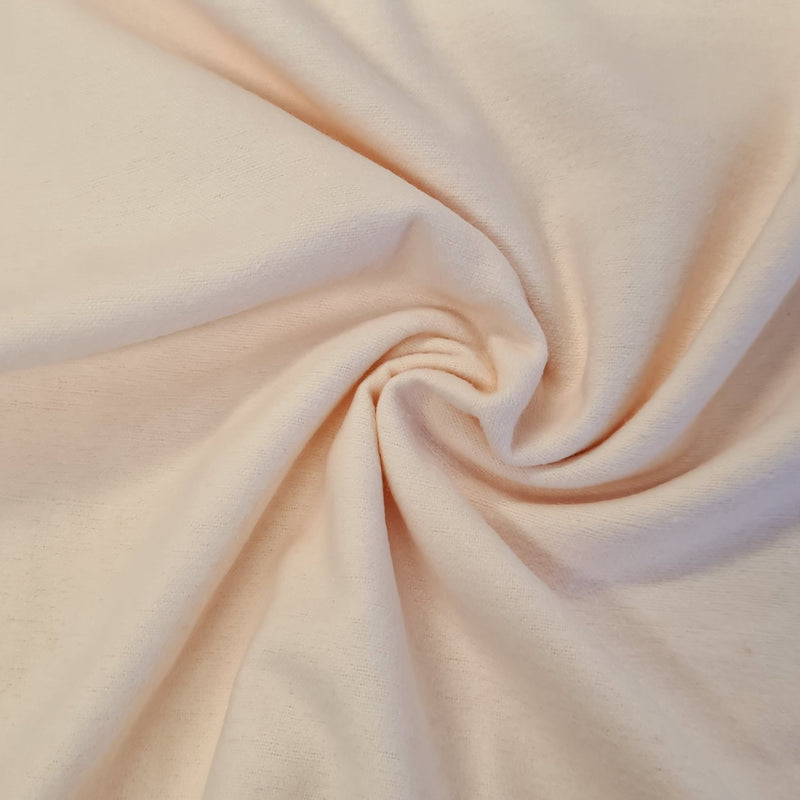 Plain Brushed Cotton - Peach Pink - The Fabric Counter
