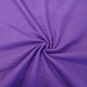 Plain Brushed Cotton - Purple - The Fabric Counter
