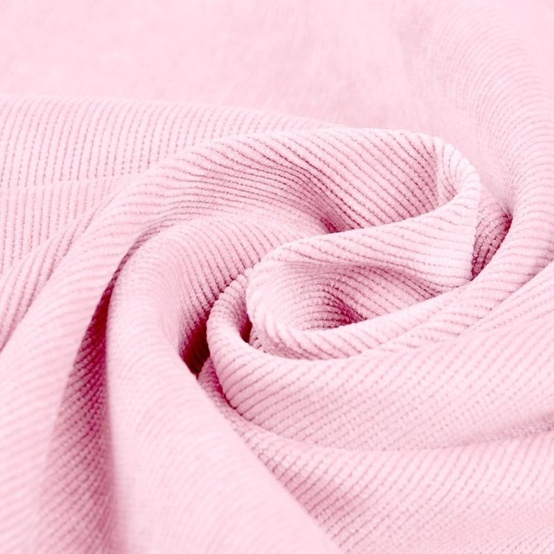 Plain Corduroy - Baby Pink - The Fabric Counter