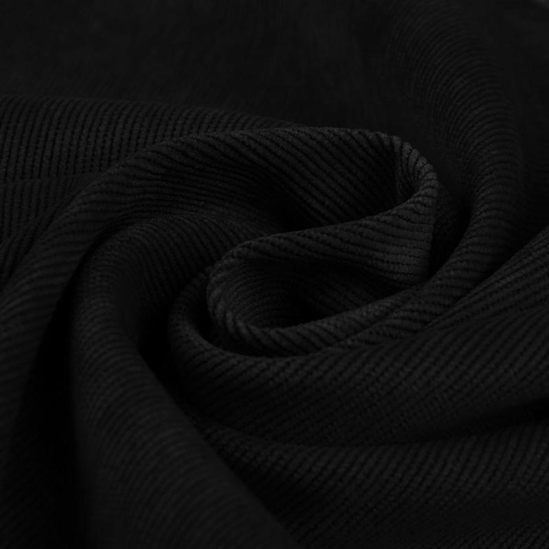 Plain Corduroy - Black - The Fabric Counter
