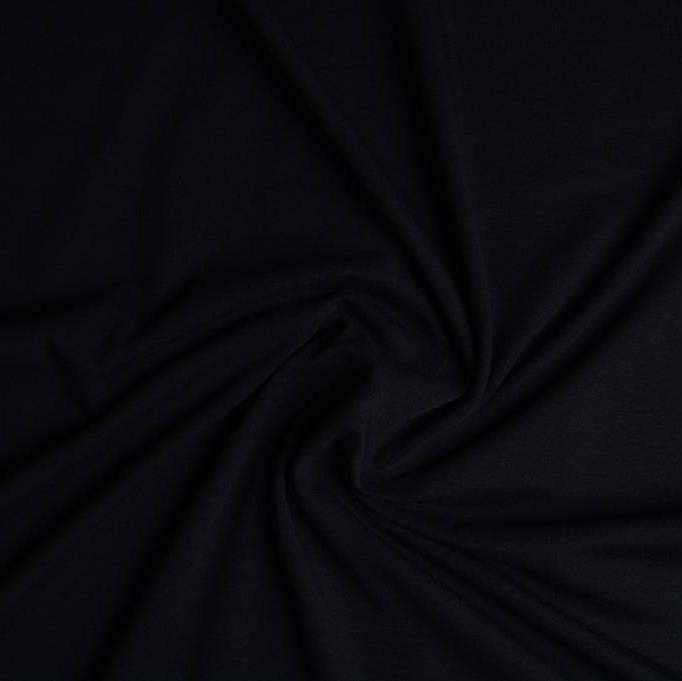 Plain Cotton Jersey - Black - The Fabric Counter