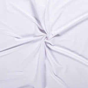 Plain Cotton Jersey - White - The Fabric Counter