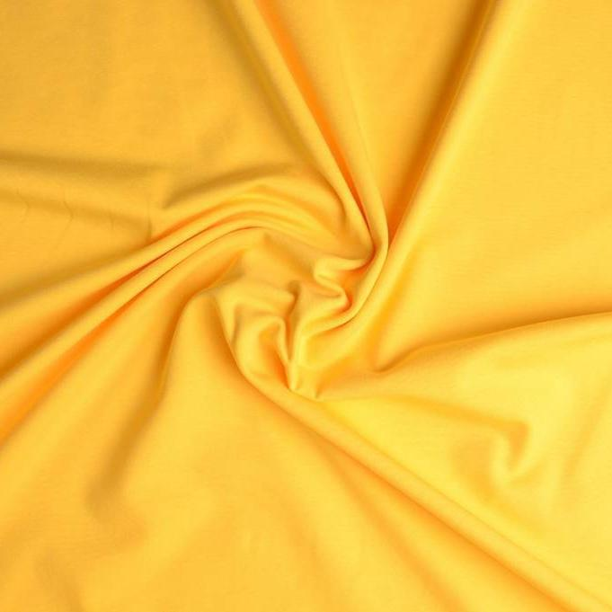 Plain Cotton Jersey - Yellow - The Fabric Counter