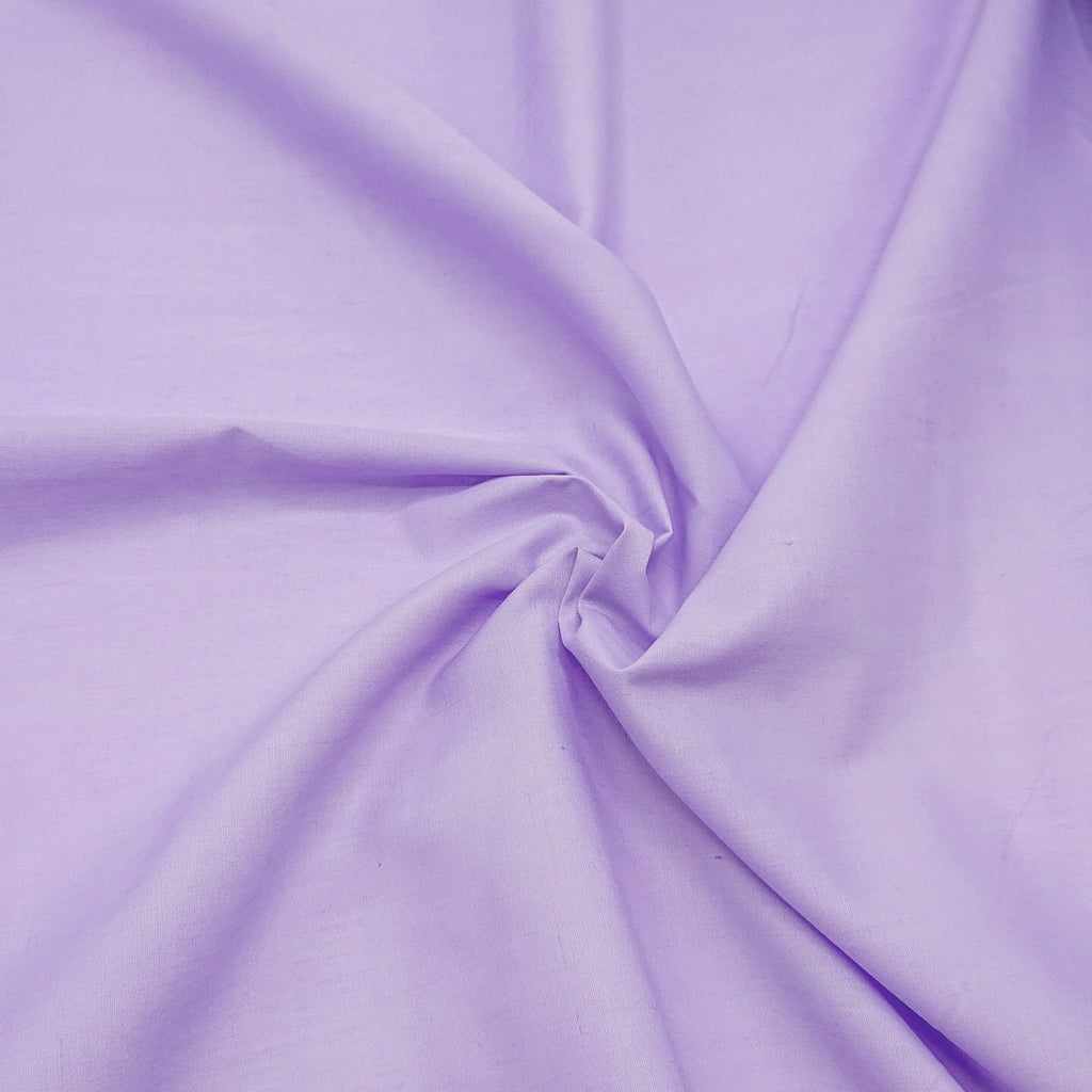 Plain Polycotton - Lilac - The Fabric Counter
