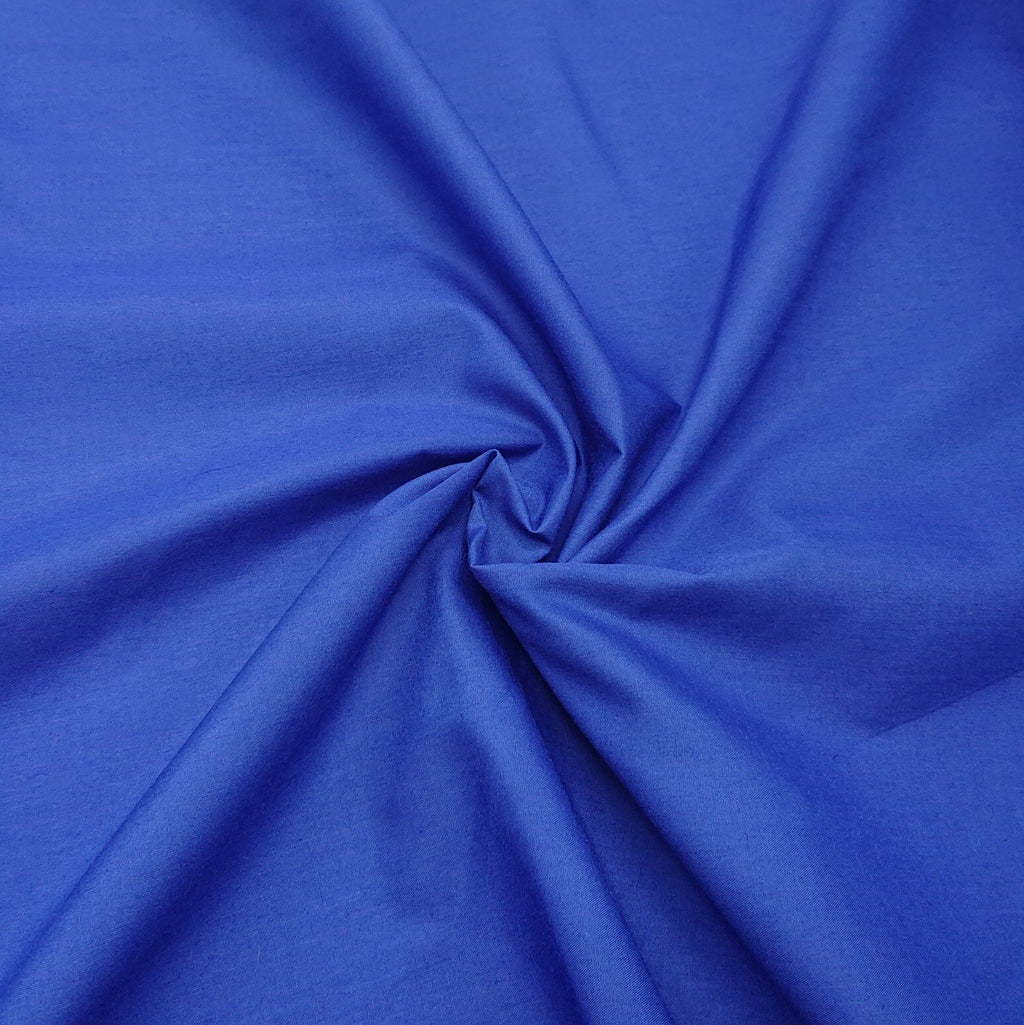 Plain Polycotton - Royal - The Fabric Counter