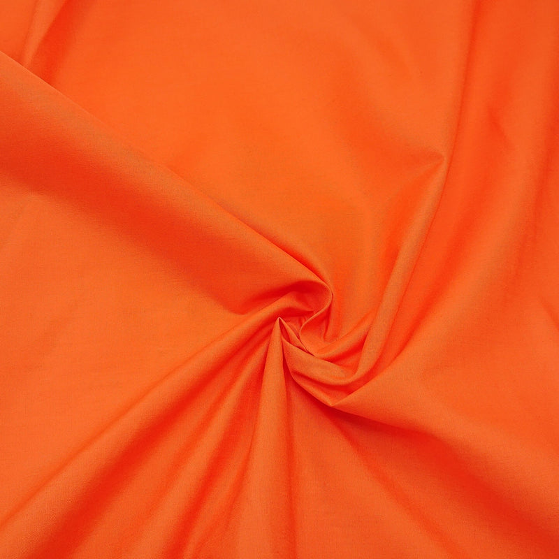 Plain Polycotton - Tangerine - The Fabric Counter