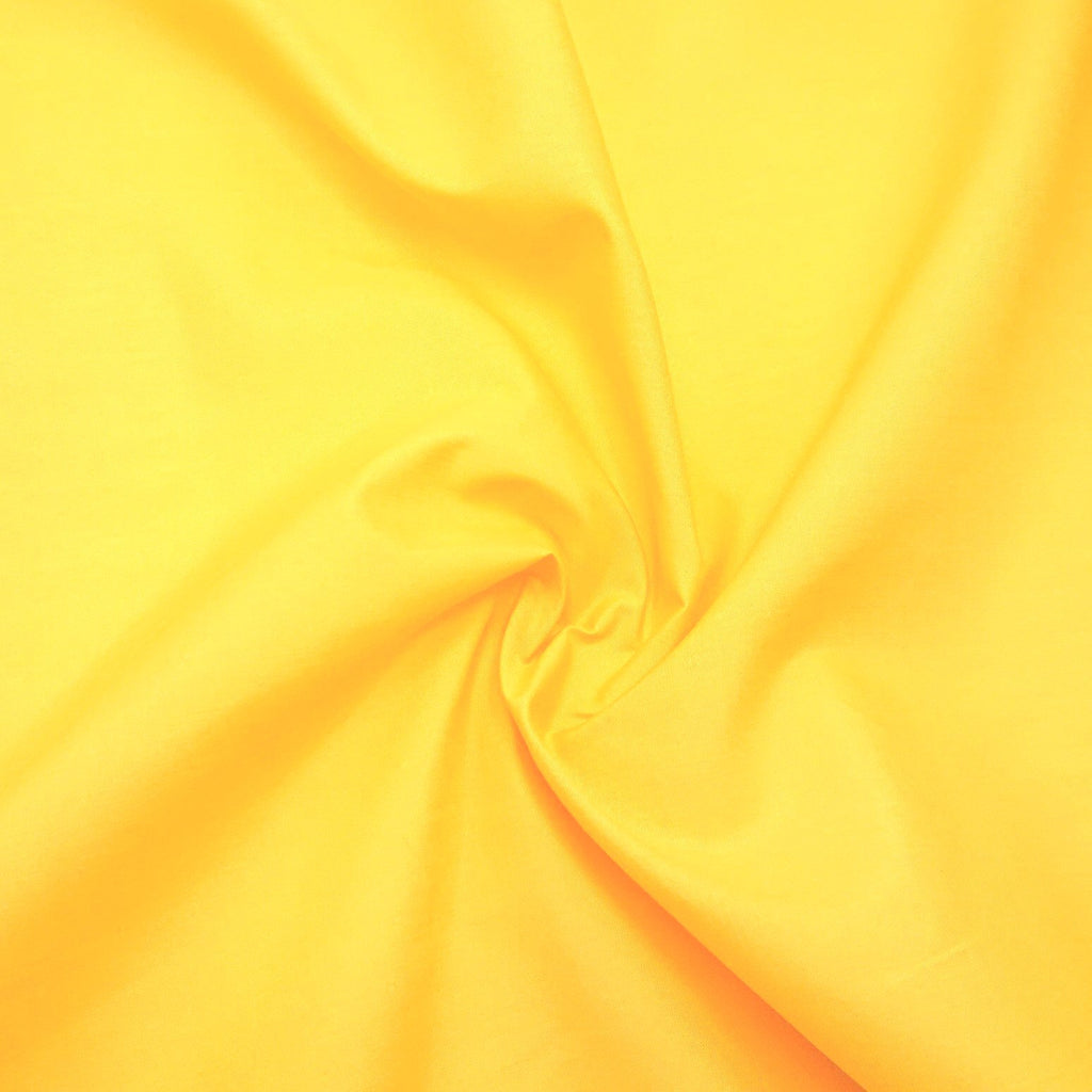 Plain Polycotton - Yellow - The Fabric Counter