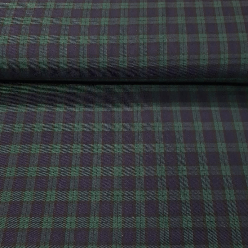 Poly-Vicose Tartan - The Fabric Counter