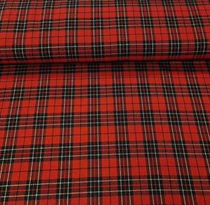 Poly-Vicose Tartan (Glitter) - The Fabric Counter