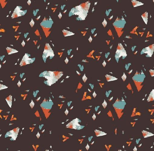 Polyester Print - Abstract - The Fabric Counter