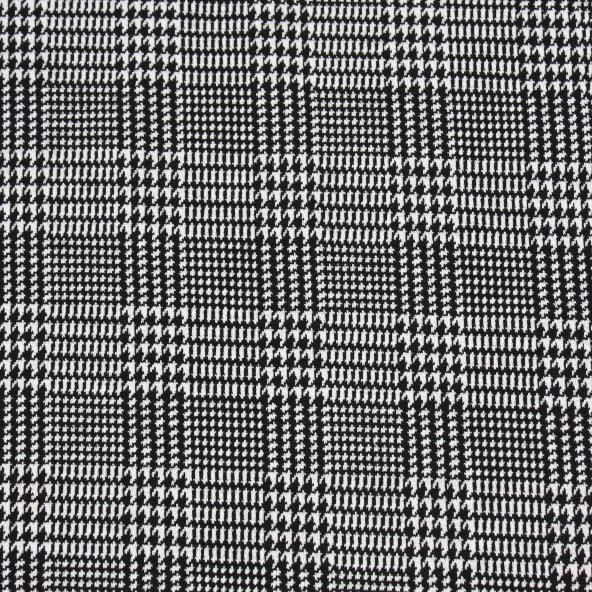 Ponte Roma - Houndstooth Print - The Fabric Counter